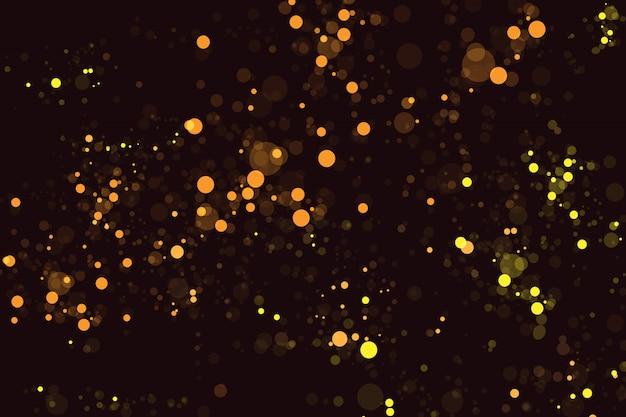 Achtergrond met gouden bokeh