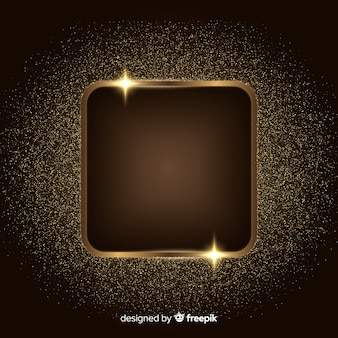 Achtergrond met gouden sprankelend frame