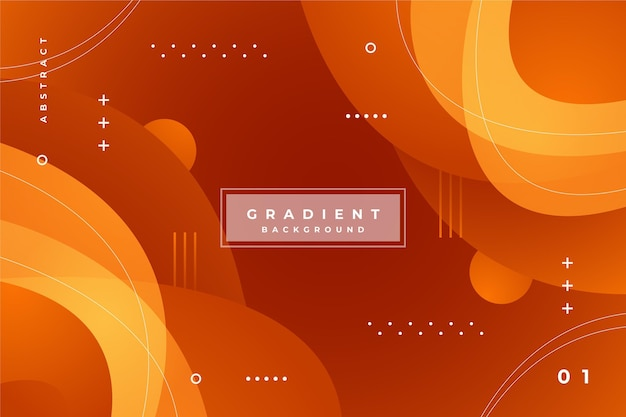 Achtergrond met gradiënt abstracte oranje vormen