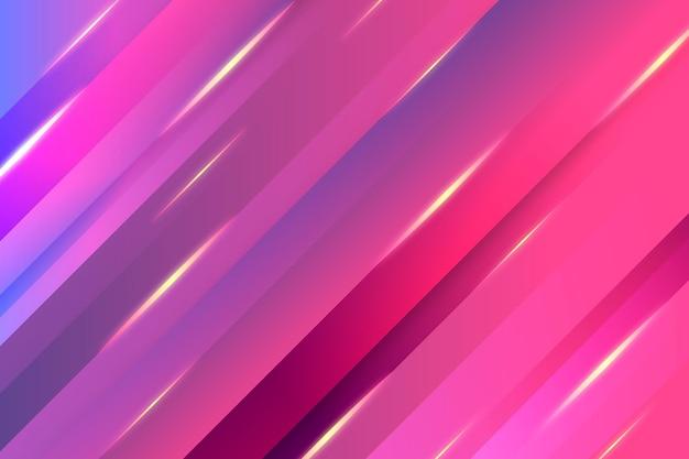 Achtergrond met gradiënt dynamische lijnen