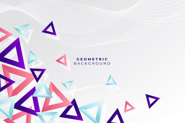 Achtergrond met gradiënt geometrische vormen