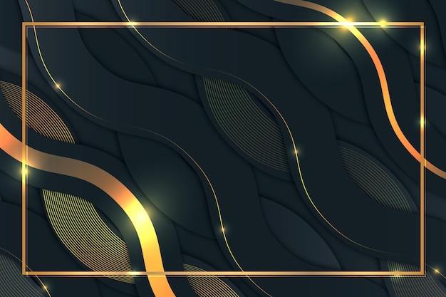 Achtergrond met gradiënt gouden details