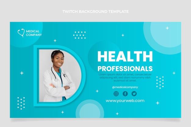 Achtergrond met gradiënt medische twitch