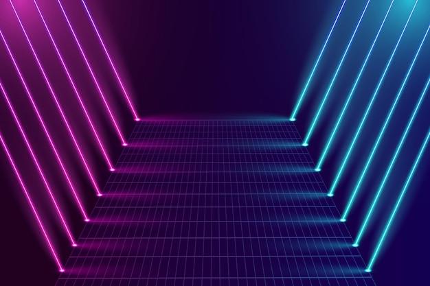 Achtergrond met gradiënt neonlichten