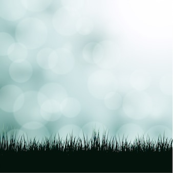 Achtergrond met gras en bokeh