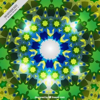 Achtergrond met groene kleine kristallen