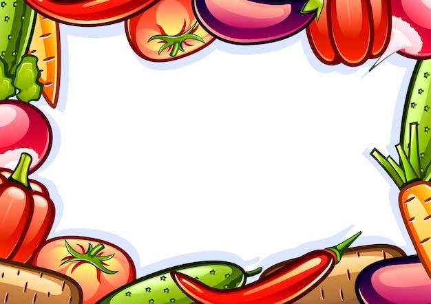 Achtergrond met groenten