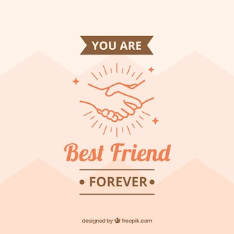 Achtergrond met handen en boodschap van vriendschap