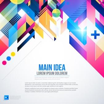 Achtergrond met heldere kleuren en abstracte stijl