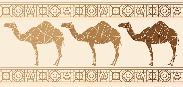 Achtergrond met kamelen