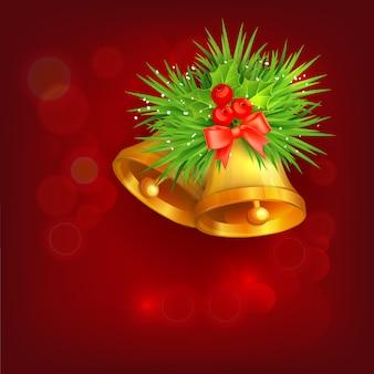 Achtergrond met kerst klokken
