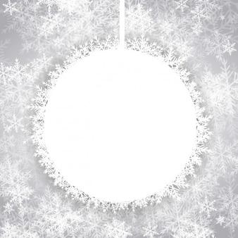 Achtergrond met kerst leeg sneeuwbal