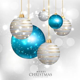 Achtergrond met kerstboom elementen