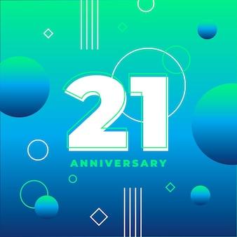 Achtergrond met kleurovergang 21 verjaardag