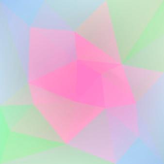 Achtergrond met kleurovergang abstracte vierkante driehoek. levendige regenboog veelkleurige veelhoekige achtergrond voor zakelijke presentatie. trendy geometrische abstracte banner. corporate flyer ontwerp. mozaïek stijl. Premium Vector