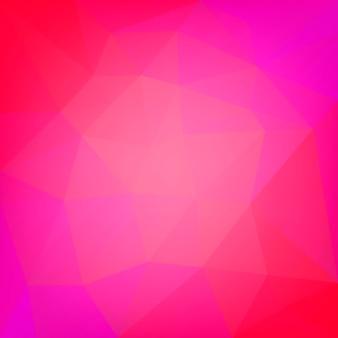 Achtergrond met kleurovergang abstracte vierkante driehoek. rode veelhoekige achtergrond voor mobiele applicatie en web. trendy geometrische abstracte banner. technologie concept flyer. mozaïek stijl.