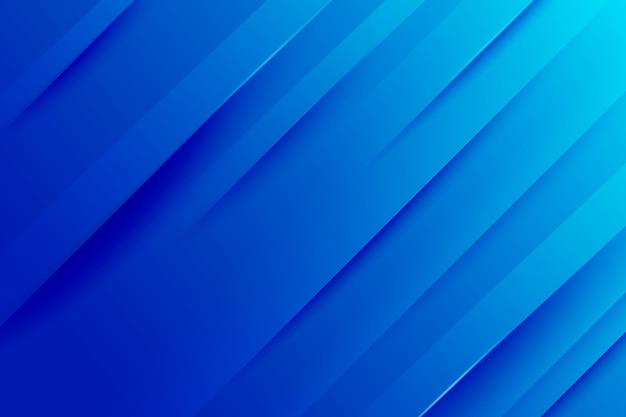 Achtergrond met kleurovergang blauwe dynamische lijnen