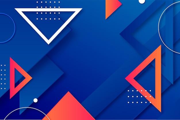 Achtergrond met kleurovergang driehoeken