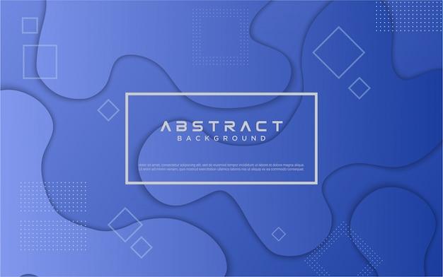 Achtergrond met kleurovergang geometrische blauwe vorm