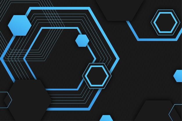 Achtergrond met kleurovergang geometrische futuristische vormen