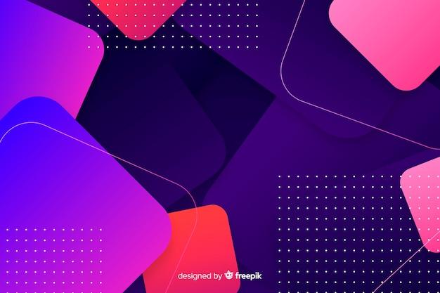 Achtergrond met kleurovergang geometrische vormen met stippen