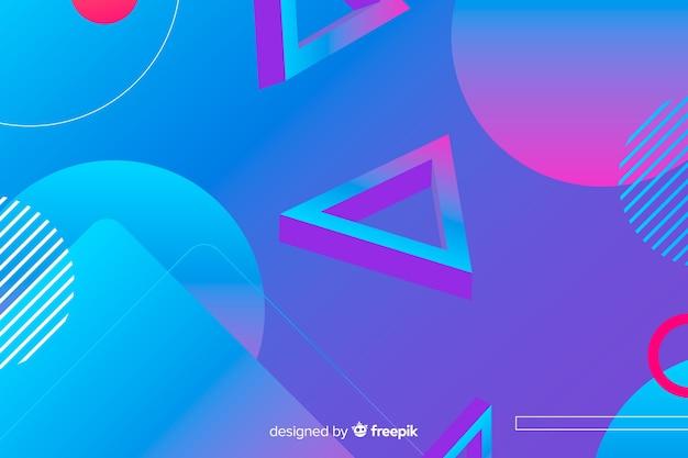 Achtergrond met kleurovergang geometrische vormen
