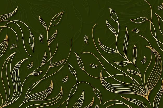 Achtergrond met kleurovergang gouden lijnen