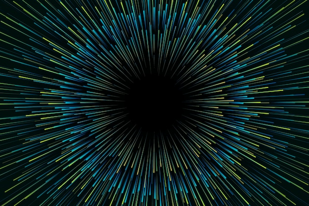 Achtergrond met kleurovergang groene snelheid lichten