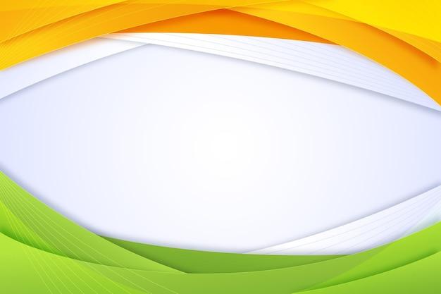 Achtergrond met kleurovergang india onafhankelijkheidsdag
