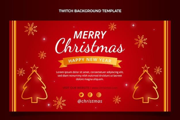 Achtergrond met kleurovergang kerst twitch