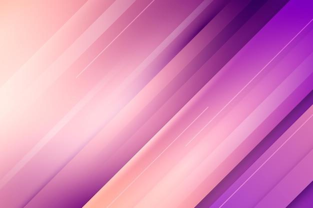 Achtergrond met kleurovergang kleurrijke dynamische lijnen