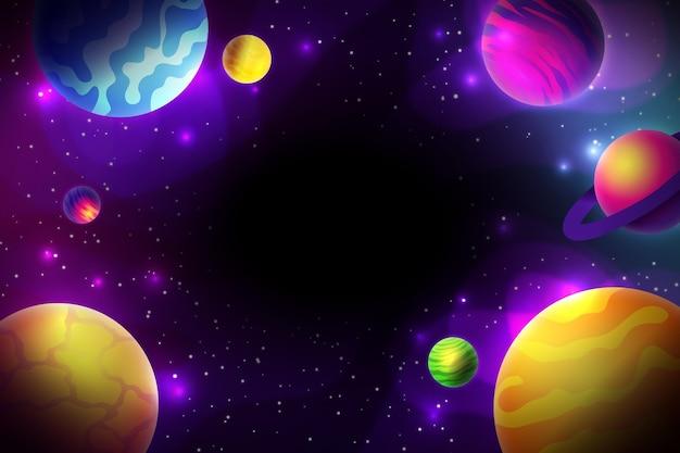 Achtergrond met kleurovergang kleurrijke melkweg Gratis Vector