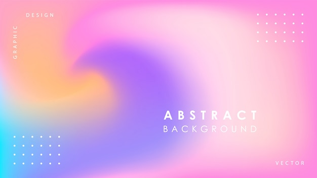 Achtergrond met kleurovergang met abstracte vormen