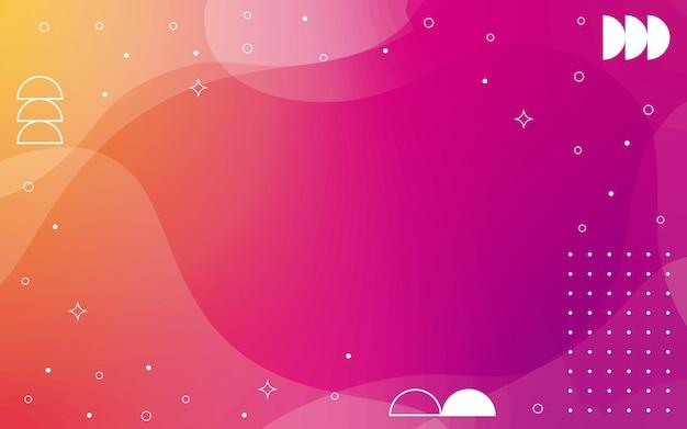 Achtergrond met kleurovergang met geometrische elementen