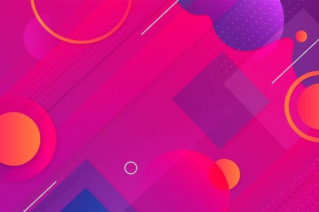 Achtergrond met kleurovergang met geometrische vormen