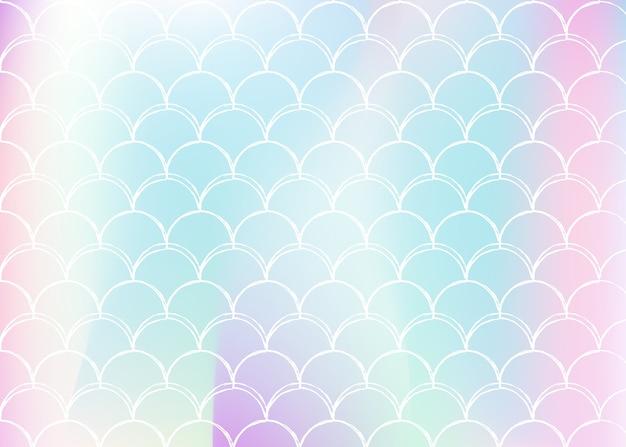 Achtergrond met kleurovergang met holografische zeemeermin.