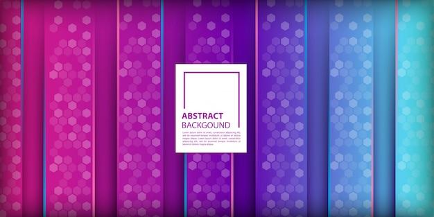 Achtergrond met kleurovergang met verticale vormen