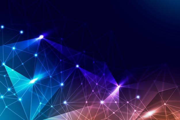 Achtergrond met kleurovergang netwerkverbinding