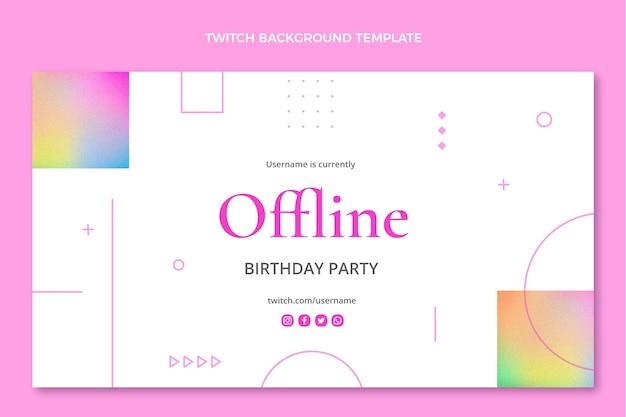 Achtergrond met kleurovergang textuur verjaardag twitch