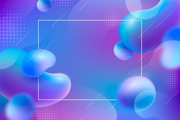 Achtergrond met kleurovergang vloeibare abstracte stijl