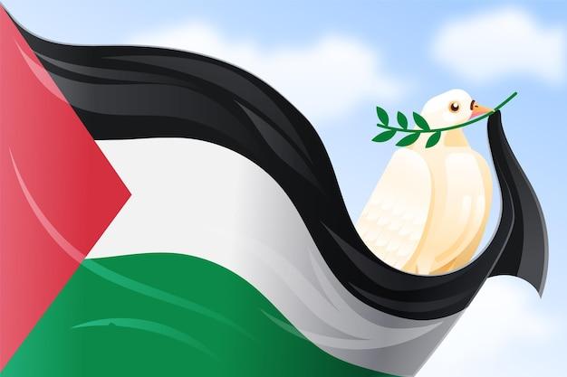 Achtergrond met kleurovergang vrede en vrijheid