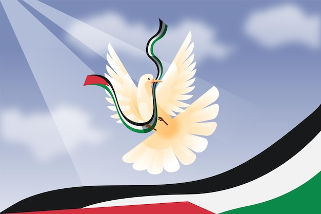 Achtergrond met kleurovergang vredesduif