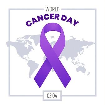 Achtergrond met kleurovergang werelddag voor kanker