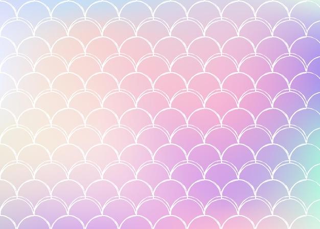 Achtergrond met kleurovergang zeemeermin