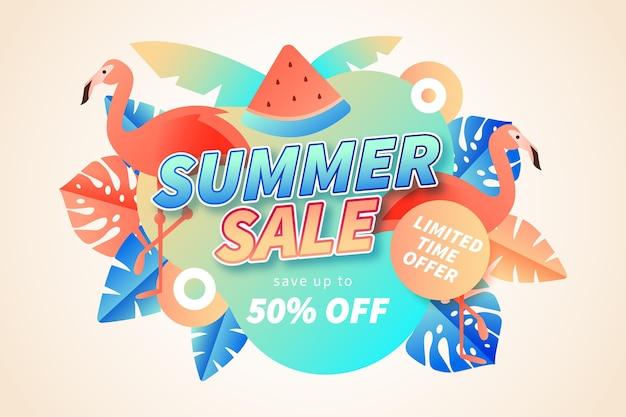 Achtergrond met kleurovergang zomer verkoop