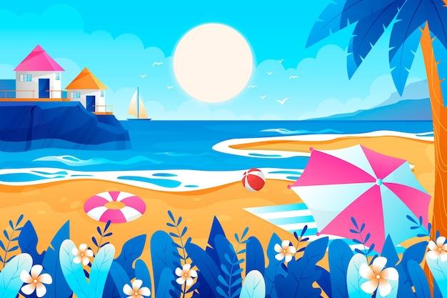 Achtergrond met kleurovergang zomer voor videocalls
