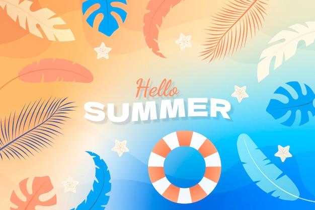 Achtergrond met kleurovergang zomer