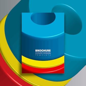Achtergrond met kleurrijke geometrische vormen voor flyer, poster, brochureomslag, typografie of andere drukproducten