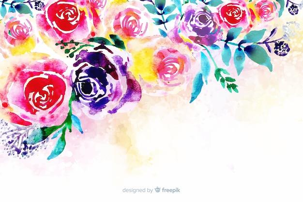 Achtergrond met kleurrijke geschilderde bloemen
