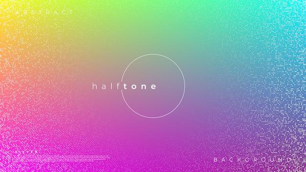 Achtergrond met kleurrijke kleurovergang halftone pop-art